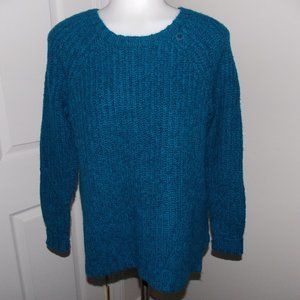 NWT AEO women's blue cable knit sweater size XS